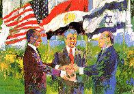Egyptian Israeli Peace Treaty 1980 Limited Edition Print by LeRoy Neiman - 0