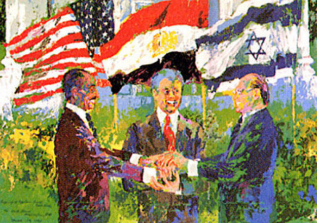 Egyptian Israeli Peace Treaty 1980 Limited Edition Print by LeRoy Neiman