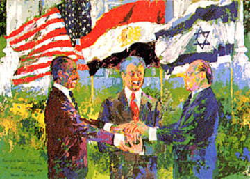 White House Signing of the Egyptian Israeli Peace Treaty 1978 Limited Edition Print - LeRoy Neiman