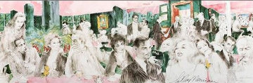 Polo Lounge Diptych 1989 Limited Edition Print by LeRoy Neiman
