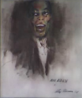 Max Roach 1958 Original Painting by LeRoy Neiman