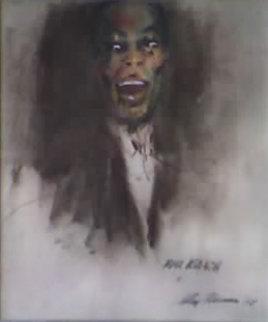 Max Roach 1958 Original Painting - LeRoy Neiman