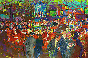 Harry's Wall Street Bar 1985 Limited Edition Print - LeRoy Neiman
