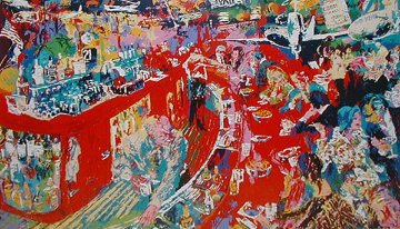 Bar at 21 1974 Limited Edition Print by LeRoy Neiman