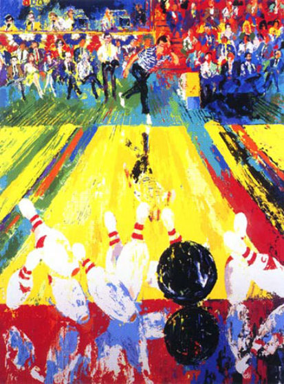 Million Dollar Strike (Earl Anthony)  Limited Edition Print by LeRoy Neiman