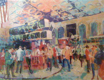 American Stock Exchange 1986 Limited Edition Print by LeRoy Neiman