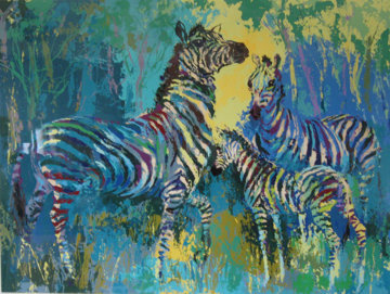 Zebra Family 1978 Limited Edition Print by LeRoy Neiman