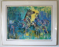 Zebra Family 1978 Limited Edition Print by LeRoy Neiman - 1