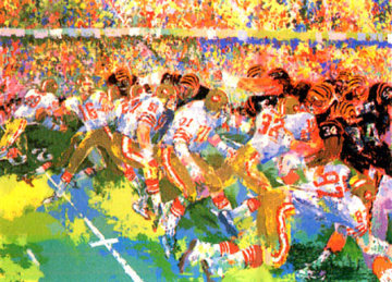 Silverdome Superbowl Limited Edition Print - LeRoy Neiman