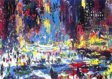Plaza Square New York 1985 Limited Edition Print - LeRoy Neiman