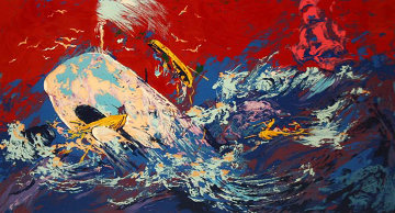 Red Sky From Moby Dick 1977 Limited Edition Print - LeRoy Neiman