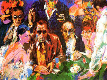 Vegas Blackjack 1978 Limited Edition Print - LeRoy Neiman
