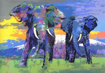 Kilamanjaro Bulls Limited Edition Print - LeRoy Neiman