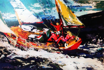 North Sea Sailing AP 1981 Limited Edition Print - LeRoy Neiman