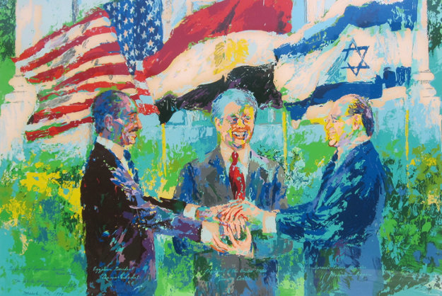 Egyptian Israeli Peace Treaty 1979 Limited Edition Print by LeRoy Neiman