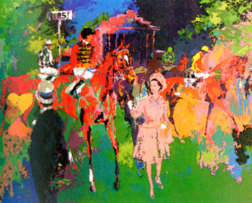 Queen At Ascot 1976  (The Pink Queen) Limited Edition Print by LeRoy Neiman