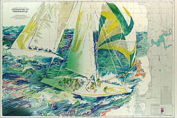 America's Cup Australia 1986 Limited Edition Print - LeRoy Neiman
