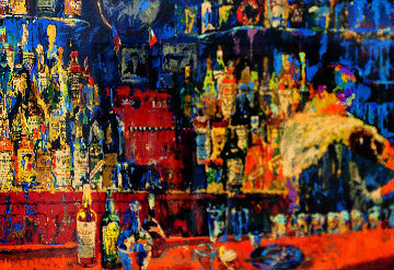 Irish-American Bar 1980 Limited Edition Print - LeRoy Neiman