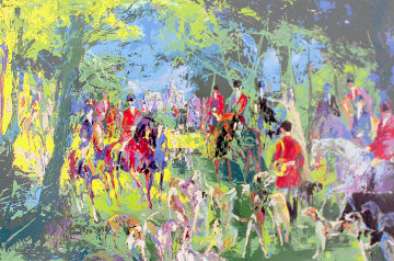 Chateau Hunt 1979 Limited Edition Print by LeRoy Neiman