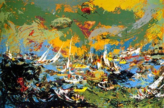 Spectators Fleet, America's Cup PP 1978 Limited Edition Print by LeRoy Neiman