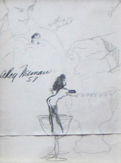 Femlin in My Pocket Drawing 1958 Drawing by LeRoy Neiman