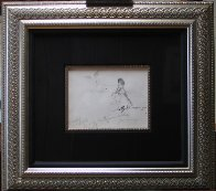 Femlin Putting on Watch Drawing 1958 Drawing by LeRoy Neiman - 2