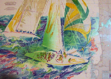 America's Cup, Australia 1986 Limited Edition Print by LeRoy Neiman