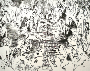Eaux Fortes: Game of Life (black and White) 1980 Limited Edition Print - LeRoy Neiman