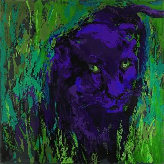 Portrait of the Black Panther AP Limited Edition Print - LeRoy Neiman