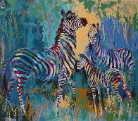 Zebra Family AP 1978 Limited Edition Print by LeRoy Neiman - 0
