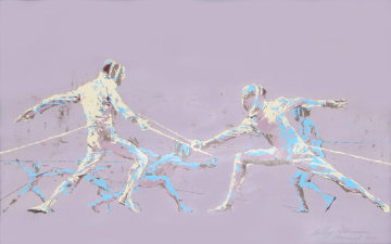 Fencing At Munich Olympics AP 1972 Limited Edition Print - LeRoy Neiman