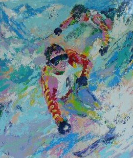 Maher Twins (skiing) Limited Edition Print - LeRoy Neiman