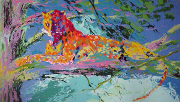 Kenya Leopard 1973 Limited Edition Print by LeRoy Neiman
