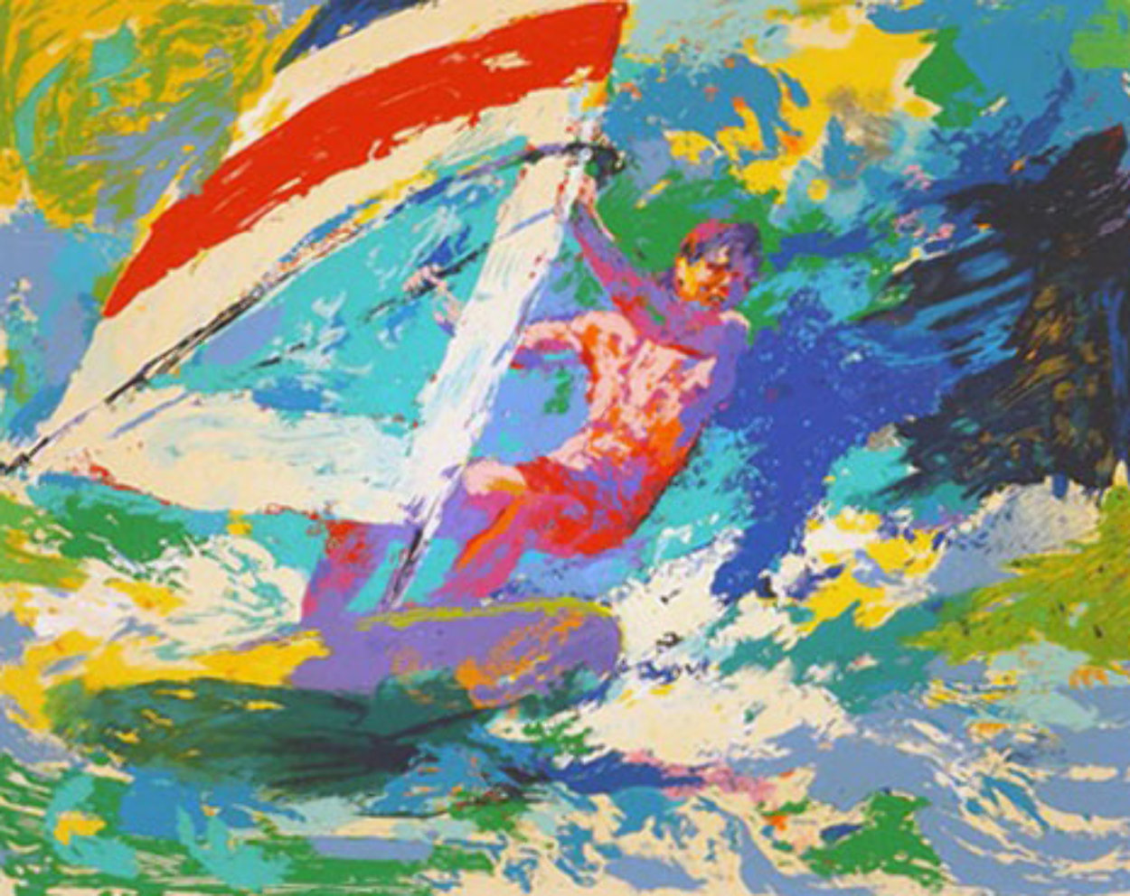 Wind Surfer 1973 Limited Edition Print by LeRoy Neiman
