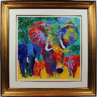 Elephant Charge 1999 Limited Edition Print by LeRoy Neiman - 1