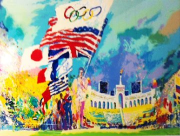 Opening Ceremonies XXIII Olympiad 1984 AP Limited Edition Print by LeRoy Neiman