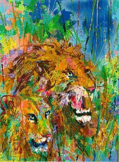 Lions 1997 Limited Edition Print by LeRoy Neiman