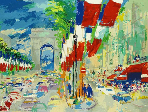 July 14th (From the Paris Suite) 1995 Limited Edition Print by LeRoy Neiman