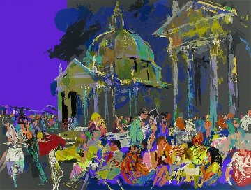 Piazza Del Popolo - Rome 1988 Limited Edition Print by LeRoy Neiman