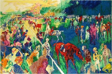 Paddock At Chantilly 1992 Limited Edition Print by LeRoy Neiman