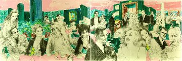 Polo Lounge,  Diptych 1989 Limited Edition Print - LeRoy Neiman