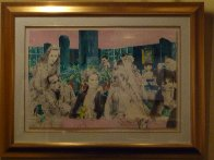 Polo Lounge,  Diptych 1989 Limited Edition Print by LeRoy Neiman - 2