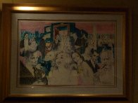 Polo Lounge,  Diptych 1989 Limited Edition Print by LeRoy Neiman - 3