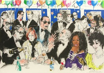 Celebrity Night At Spagos 1980 Limited Edition Print - LeRoy Neiman