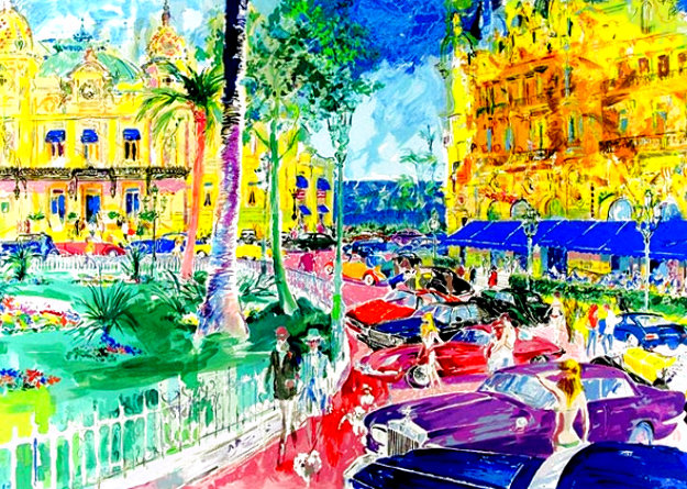 Place du Casino Monte Carlo 1982 Limited Edition Print by LeRoy Neiman
