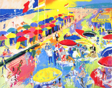 La Plage Au Deauville, France 1996 Limited Edition Print - LeRoy Neiman