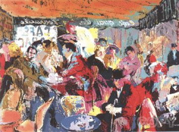 Cafe Rive Gauche 1991 Limited Edition Print - LeRoy Neiman