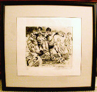 Eaux Fortes etching suite: Soccer Players 1980 Limited Edition Print by LeRoy Neiman - 1