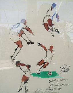 Pele (Soccer) 16x22 Original Painting by LeRoy Neiman