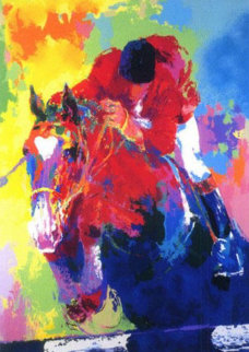 Olympic Jumper 1984  Limited Edition Print - LeRoy Neiman